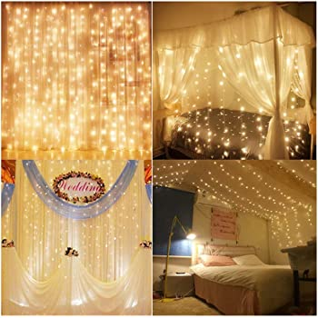 Beau Decute Curtain Lights, 9.8 X 9.8ft 306 LED 100% UL Listed Starry Fairy