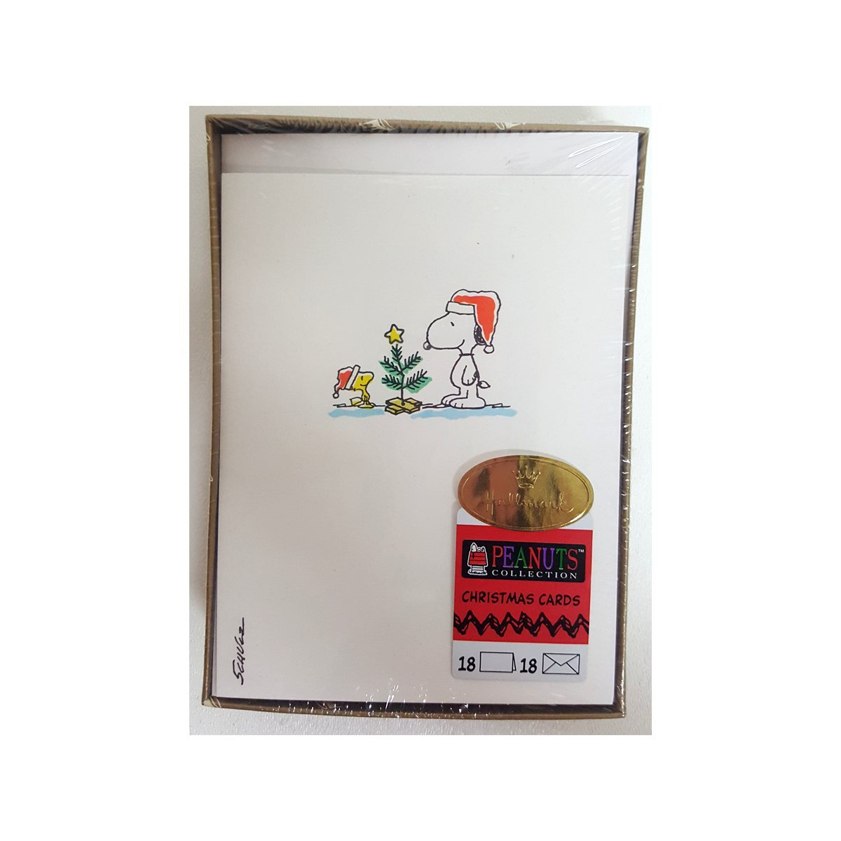 Peanuts Snoopy & Woodstock Box 18 Christmas Cards - Older: Amazon.co ...