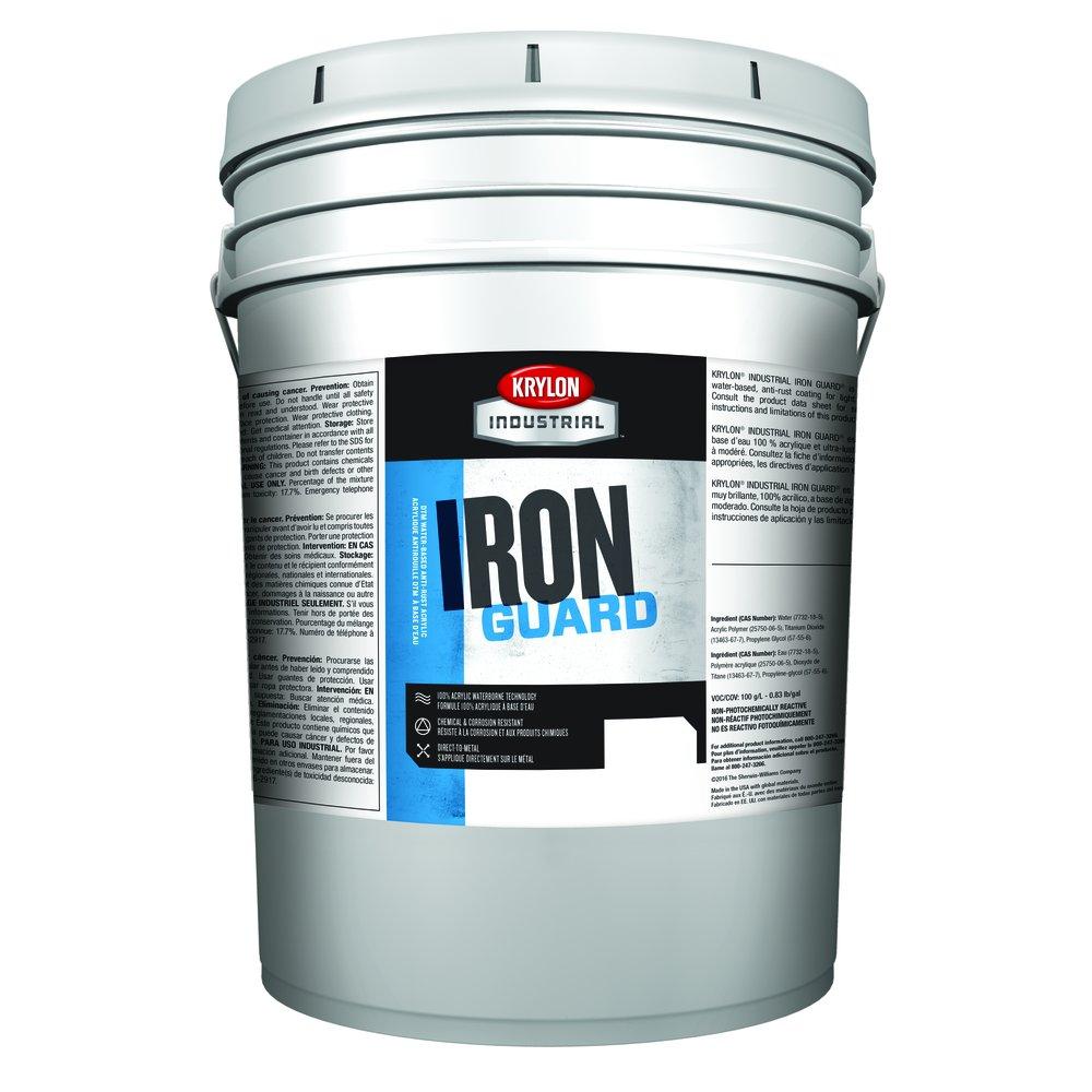 Krylon Industrial K11004045 IRON GUARD Water-based Acrylic Enamel, White, High Gloss, 5 gallons: Amazon.com: Industrial & Scientific