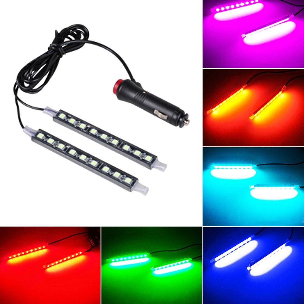 L/ámpara LED universal de coche CC12 V luces de ambiente interior de coche de HMOCNV bombilla de ne/ón para decorar el suelo del coche