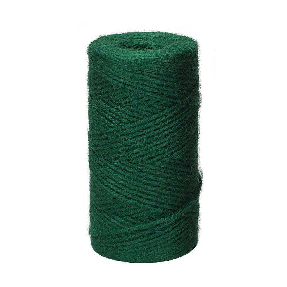 Vivifying - Cordel de Yute para floristerí a, Manualidades, Color Verde Oscuro, 2 mm
