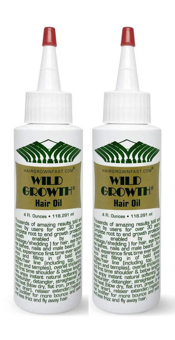 """Wild Growth Hair Oil 4oz """"Pack of 2"""""""