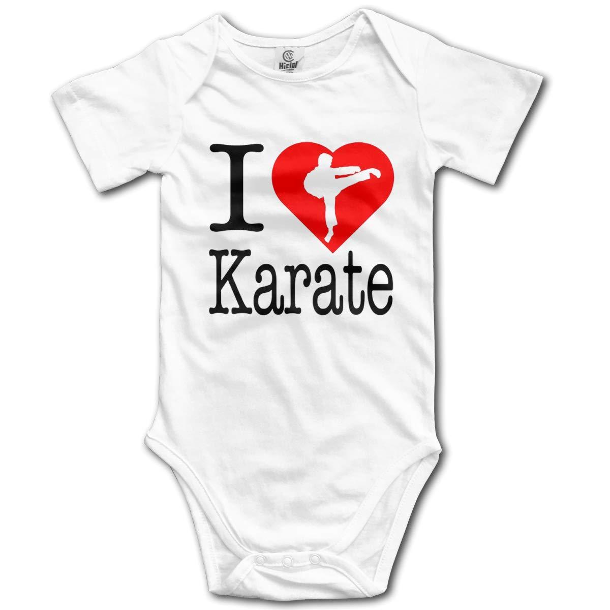 VANMASS Infant I Love Karate Short Sleeve Bodysuit Playsuits