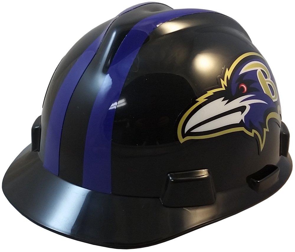 MSA NFL Ratchet Suspension Hardhats - Baltimore Ravens Hard Hats