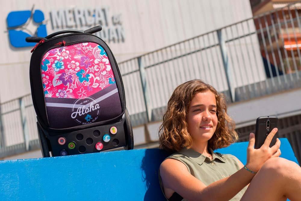 Mochila Escolar NIKIDOM Roller XL Aloha, 48 cm. Con Carro: Amazon.es: Oficina y papelería