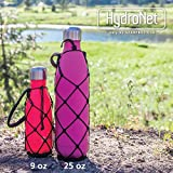 Bottle Carrier for Swell, Mira and other Cola-Shaped Bottles - Stylish, Hand Crafted Net and Handle Prevents Dropping and Adds Protection (Black 9 oz)