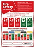 Fire Safety in The Workplace Poster | Laminated A2 Safety Poster Measuring 420 mm × 594 mm, Health and Safety at Work Guidance Poster Promoting Fire Safety for All Employees, by Daydream Education
