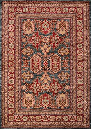 - Momeni Rugs GHAZNGZ-01BLU2030 Ghazni Collection, Traditional Area Rug, 2' x 3', Blue