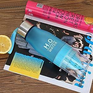 Aolvo Portable Citrus Zinger Sports Water Bottle Squeezer Tumbler Cup Lemon Juicer BPA Free