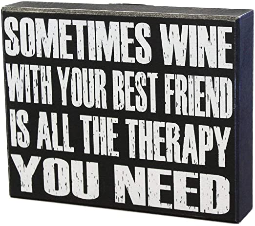 Funny Wine Sign Friendship Friends Christmas Best Friend Wooden Plaque Gift