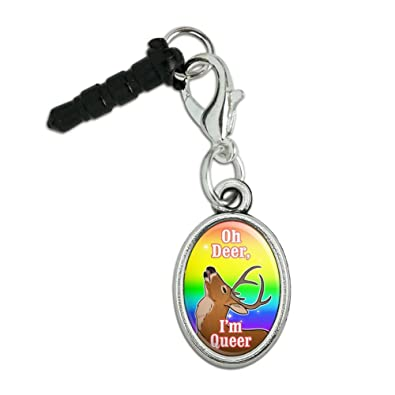 Amazon.com: Oh Deer Im Queer Rainbow Pride Gay Lesbian ...