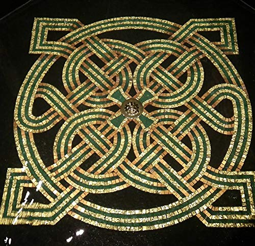 Home Comforts Canvas Print Design Art Font Knot Work Irish Church Celtic Vivid Imagery Stretched Canvas 32 x 24