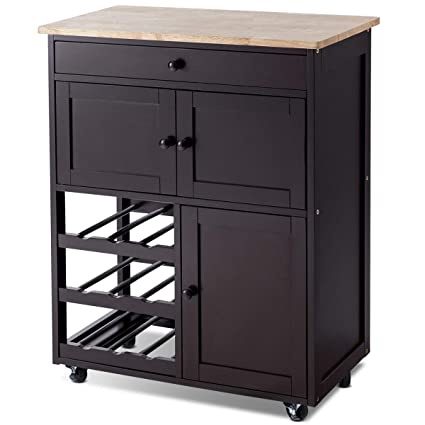 Amazon.com - Giantex Kitchen Island Cart Rolling Kitchen ...