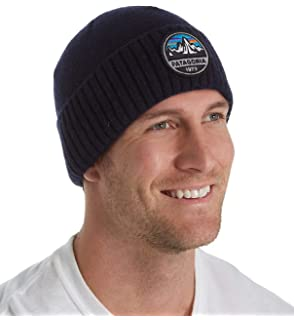 f09e381a3b9 Patagonia Hats Speedway Beanie Hat - Navy Blue 1-Size  Amazon.co.uk ...