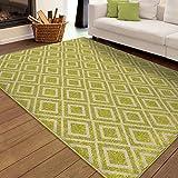 Carolina Weavers Indoor/Outdoor Speckled Lime Green Area Rug (7 8  x 10 10 )