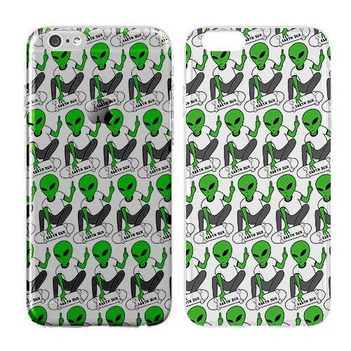 Compatible for iPhone 6/6S - Cream Cookies - Ultra Slim Hard Plastic Cover Case - Alien - Skateboard Alien - Alien Pattern - Cute Alien - Fun - Funny - Pattern