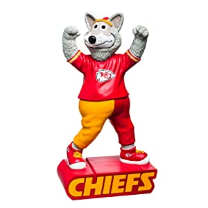 Evergreen Enterprises NFL Kansas City Chiefs Mascot DesignGarden Statue, Team Colors, One Size