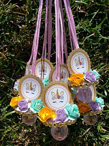 Amazon.com: Collar con 12 chupetes de unicornio para la ...