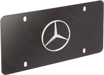 1 NEW MATTE BLACK Mercedes Benz 3D Logo Stainless Steel VANITY LICENSE PLATE