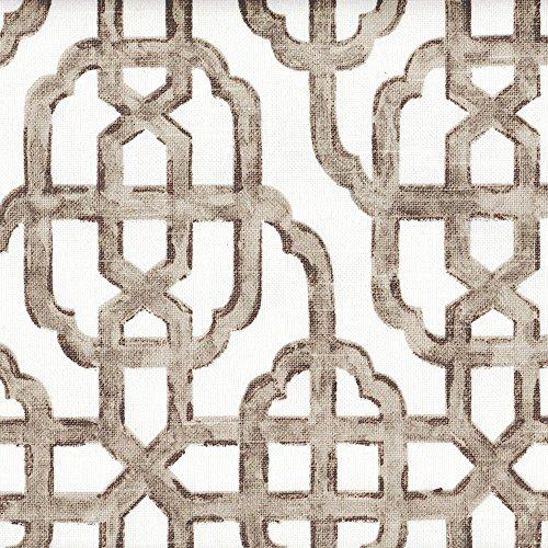 Imperial Bisque Gray Lattice 75 x 72 inch Cotton Shower Curtain, - Bisque 75