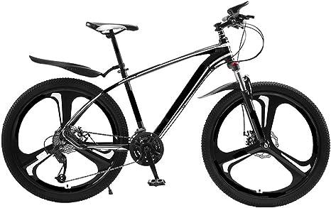 MH-LAMP Bicicleta Montaña 27 Velocidades, Bicicleta 26 Pulgadas, Horquilla MTB Suspension, Freno Disco Doble, Guardabarros MTB, Marco de Aleación de Aluminio: Amazon.es: Deportes y aire libre