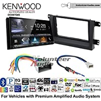 Volunteer Audio Kenwood DDX9704S Double Din Radio Install Kit with Apple Carplay Android Auto Fits 2006-2008 Honda Ridgeline (Factory Amplified)