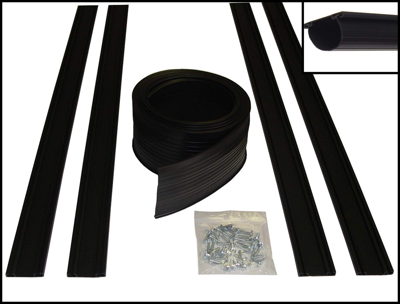 MD Group 18' ProSeal U-Shaped Garage Door Bottom Seal Kit by Auto Care Products, 1.5'' x 18'' x 4 lbs
