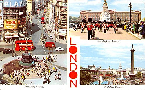 Image Unavailable Image Not Available For Color Piccadilly Circus Buckingham Palace London United Kingdom Great Britain England Postcard