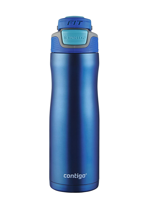 Contigo AUTOSEAL Fit Trainer Stainless Steel Water Bottle, 20 oz, Dazzling Blue