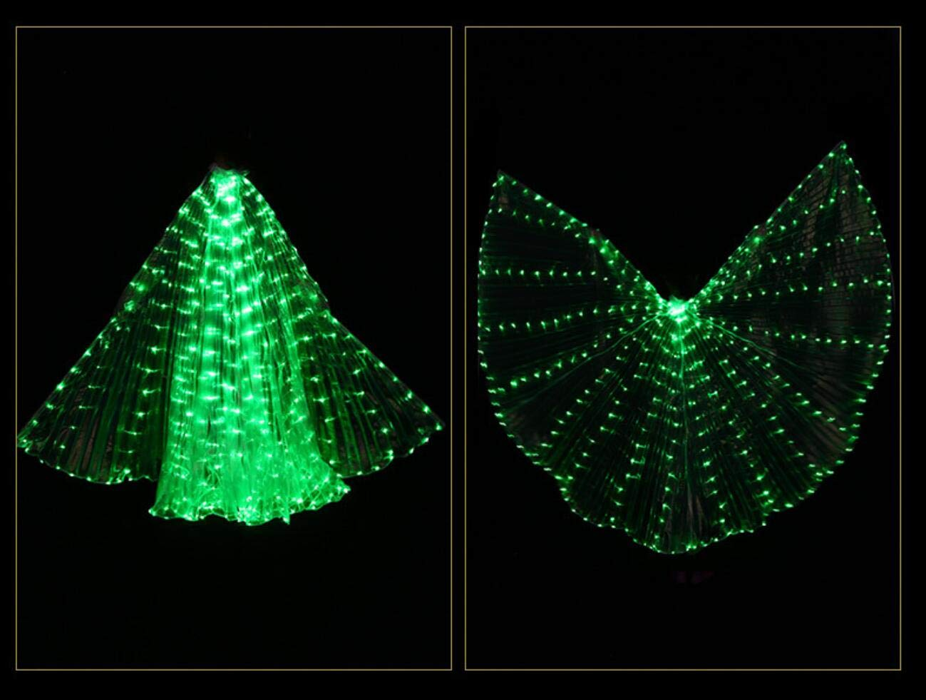 Z&X Eröffnung der Tanzfeier Eröffnung Belly Dance LED LED LED Isis Wings mit Stöcken Rods-Wings 316 LED leuchten Licht Bühne Bühnenvorstellung B07P7DLHMC Bekleidung Am praktischsten f849c8