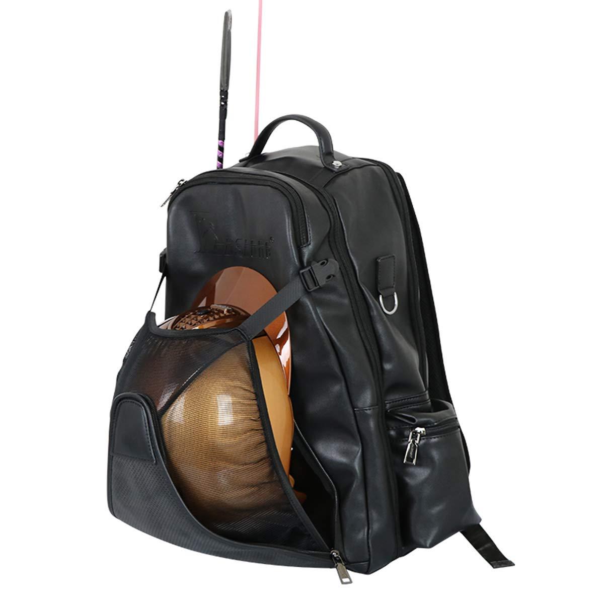 日本最級 UNISTRENGH プロフェッショナル 乗馬用バックパック 隠しメッシュヘルメットホルダー付き ブラック 防水 乗馬用ブーツバッグ UNISTRENGH B07L836CM6 ブラック ブラック ブラック, 手づくり高級婦人靴 エッセデッセ:89dfd743 --- jagorawi.com