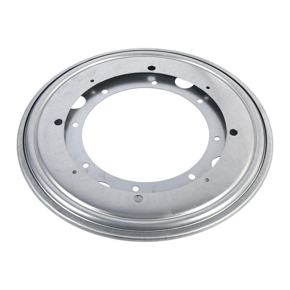 tipo 4 Plato giratorio perezoso resistente de Susan 360 grados que giran el soporte del cojinete de bolitas del acero del eslab/ón giratorio para la forma Gabinete-Redonda de la cocina tama/ño : 9-Silver