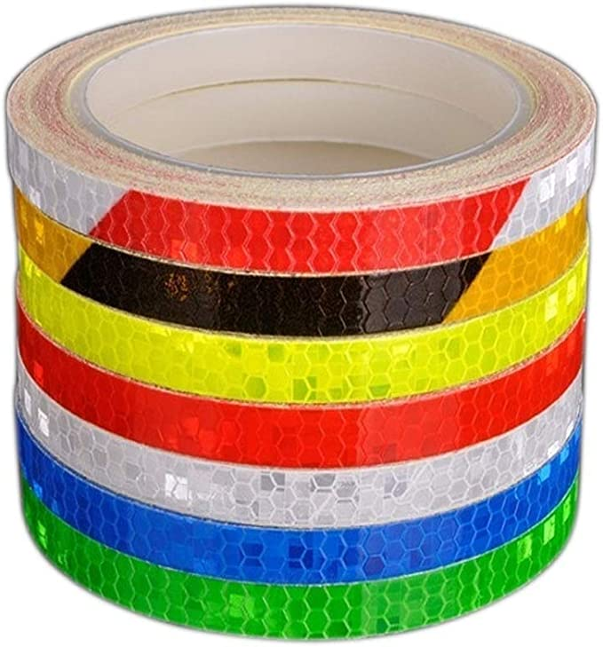 Warning Tape Bicycle Reflective Stickers Safety Strips Bike Wheel Sticker