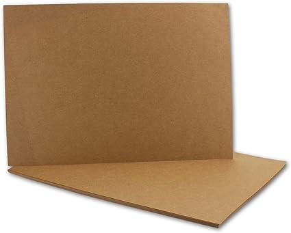 25er Pack Kraftpapier Kraftkarton A6 Karte 225g//m/² Bastelkarton braun runde Ecken