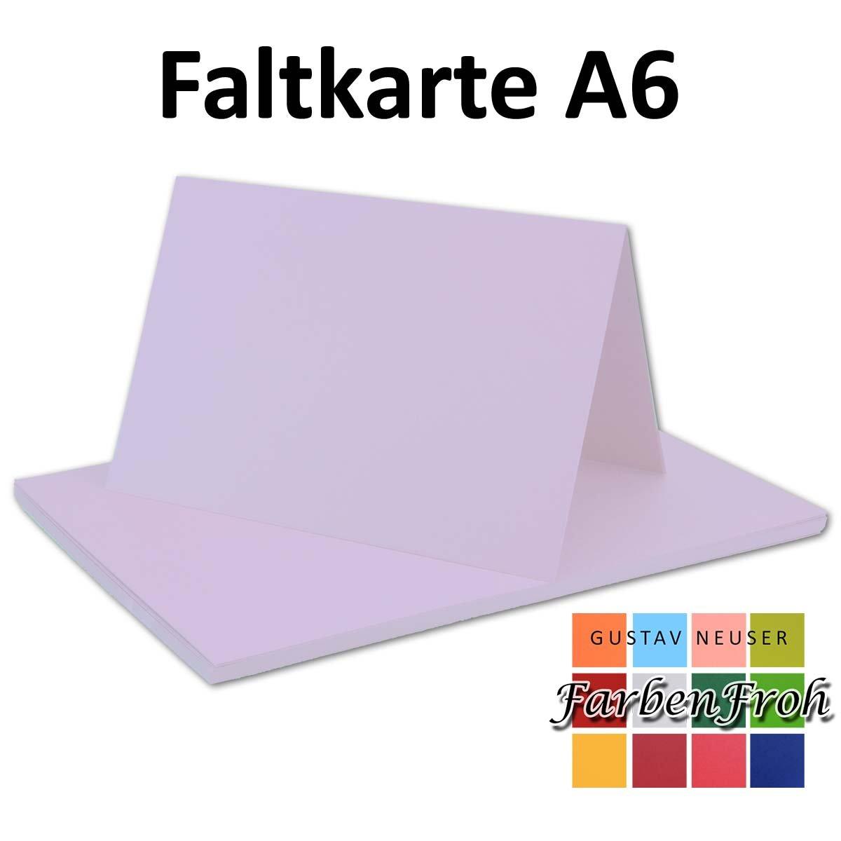 250x Falt-Karten DIN A6 Blanko Doppel-Karten in Hochweiß Kristallweiß -10,5 x 14,8 cm   Premium Qualität   FarbenFroh® B079VLCZ29 | Verbraucher zuerst