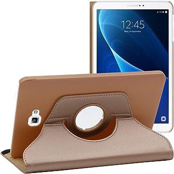 ebestStar - Funda Compatible con Samsung Galaxy Tab A6 A 10.1 (2018, 2016) T580 T585 Carcasa Cuero PU, Giratoria 360 Grados, Función de Soporte, ...