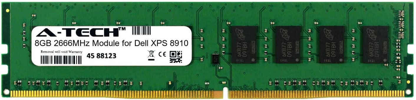 A-Tech 8GB Module for Dell XPS 8910 Desktop & Workstation Motherboard Compatible DDR4 2666Mhz Memory Ram (ATMS360886A25818X1)