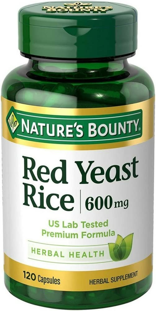 Nature s Bounty Red Yeast Rice 600mg 120 Capsules Pack of 7