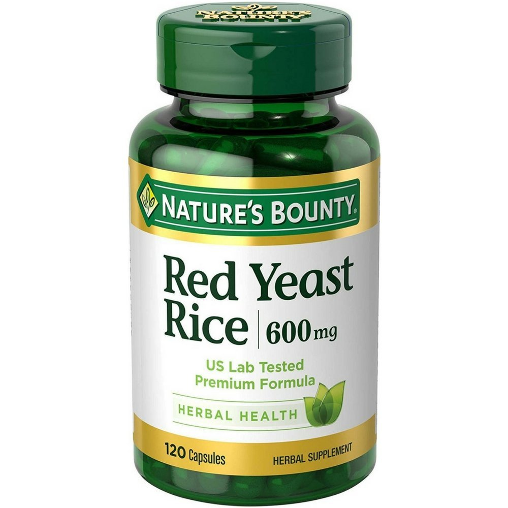 Nature s Bounty Red Yeast Rice 600mg 120 Capsules Pack of 2