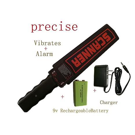 Detector de vibración de metal portátil con alarma sensible y preciso, sonda de seguridad de