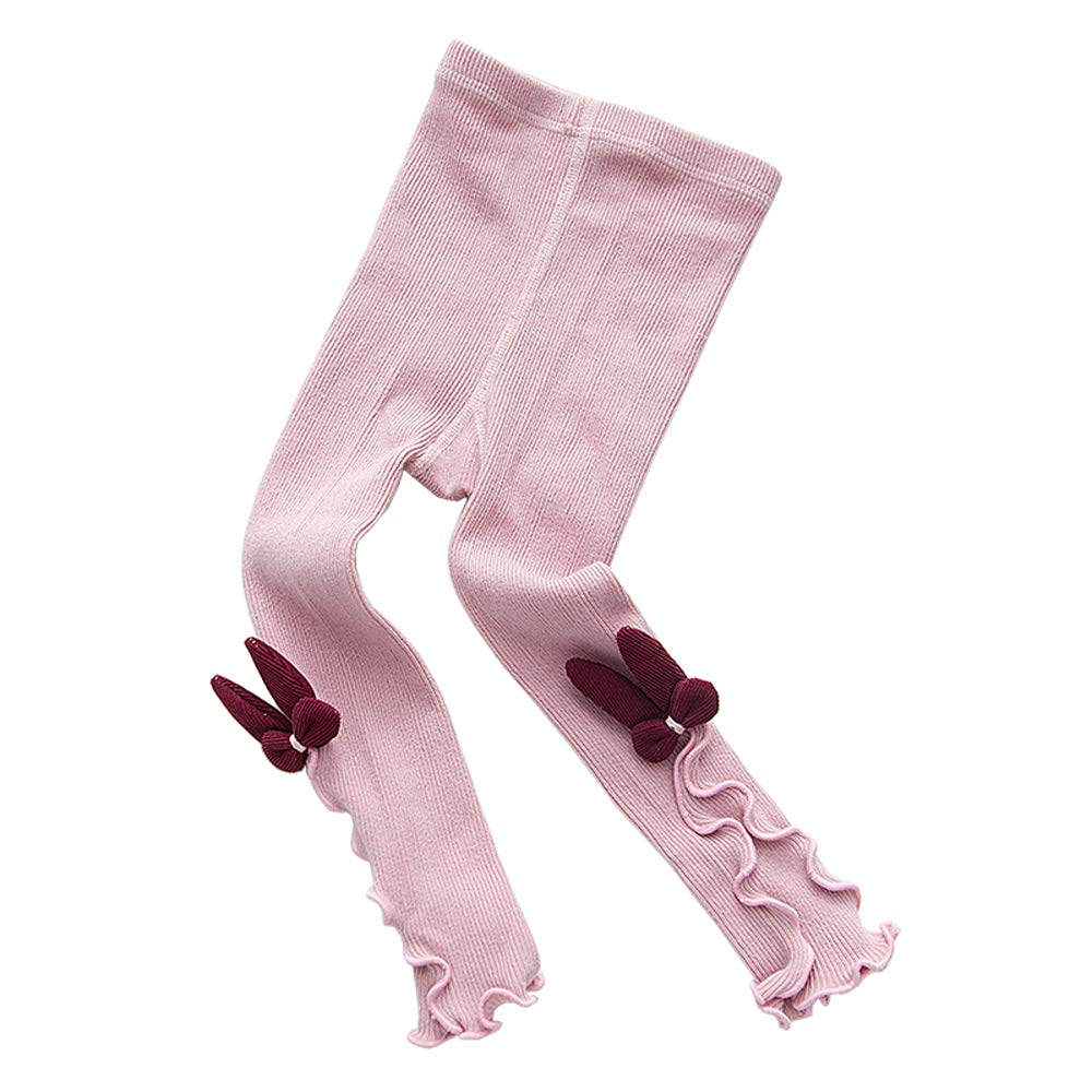 Xinqiao Baby Toddler Girls' Pantyhose Stretch Stockings Striped Ruffle Tights