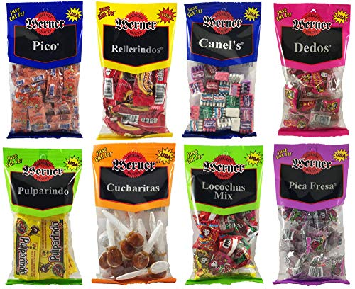 y Bundle of 8 Candies - Pico, Rellerindos, Canel's, Dedos, Pulparindo, Cucharitas, Locochas, and Pica Fresa ()
