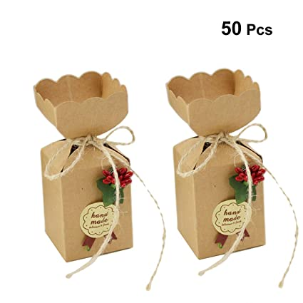 Toyvian Candy Boxes Candy Boxes Wedding Card Boxes Christmas Birthdays Halloween 50 Pieces