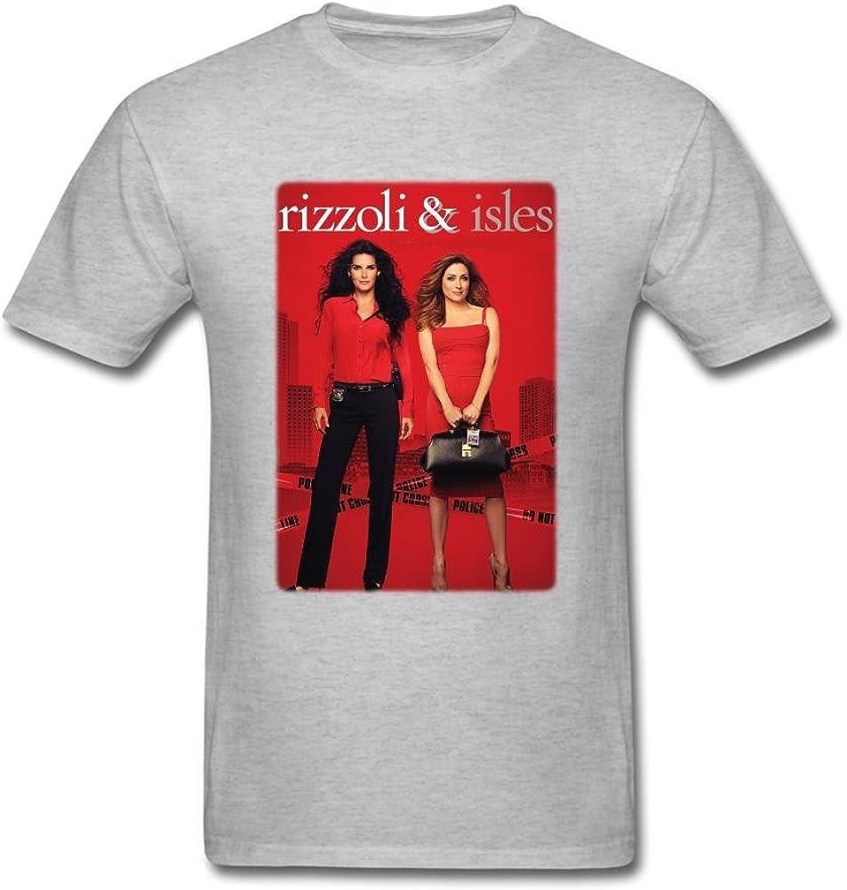 SUNRAIN Men's Rizzoli and Isles Tv Poster T Shirt