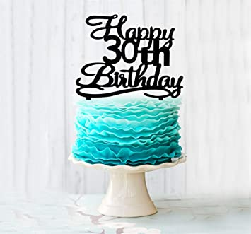 Image Unavailable Not Available For Color Happy 30th Birthday Cake