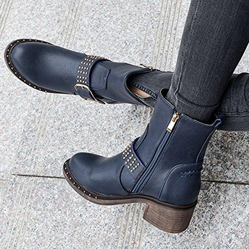 AIYOUMEI Women's Classic Boot Blue NFX3XfS