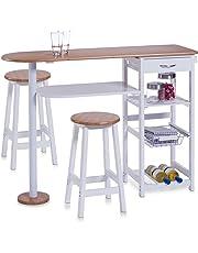 Zeller 13776 - Barra para Cocina con 2 taburetes (Tablero DM, Mesa: 118