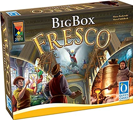 Queen Games Fresco Big Box Board Game: Amazon.es: Juguetes y juegos