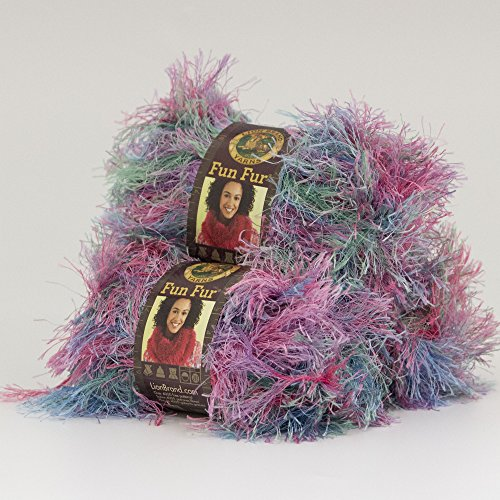 Bulk Buy: Lion Brand Fun Fur Yarn (3-Pack) Tropical Print (Lion Brand Fun Fur Yarn)