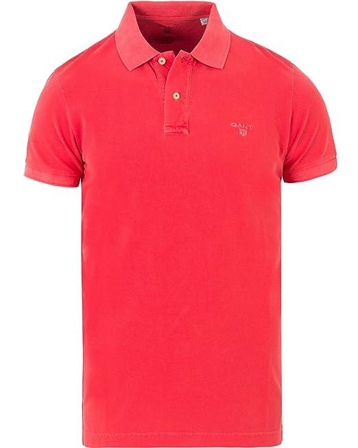 Gant 1701.262100 Polo con Las Mangas Cortas Hombre Rosso 644 3XL ...